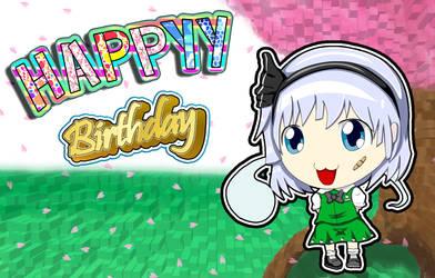 Youmu Konpalu Happy Birthday