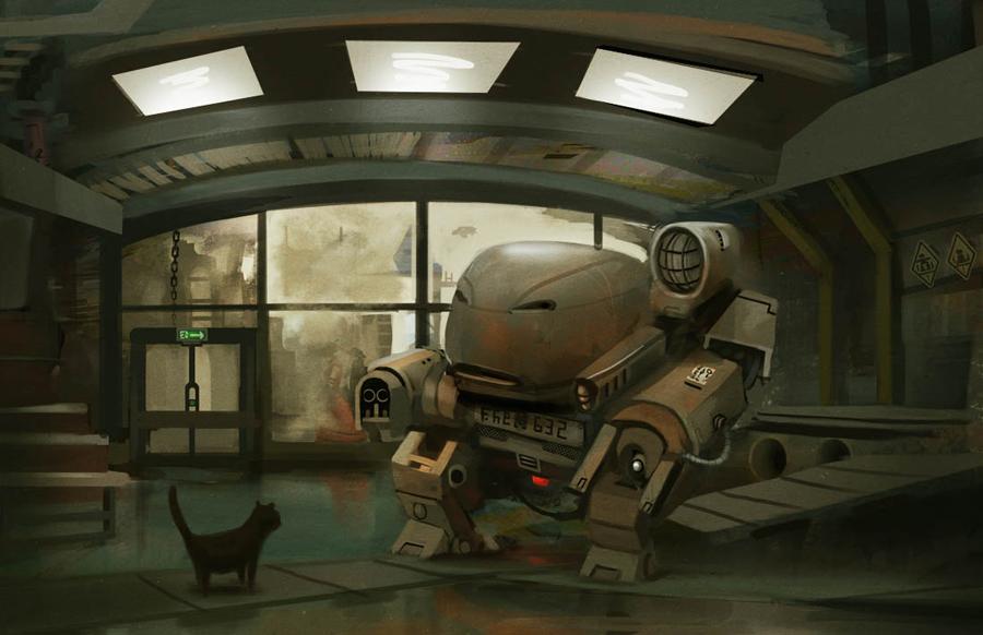 Sad Robot by Prospass