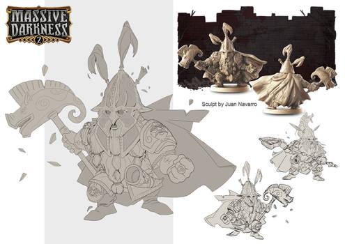 Massive Darkness 2: Living Statue Leader