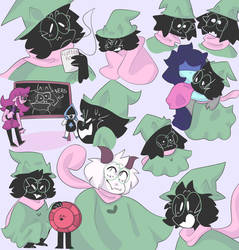 Ralsei doodles by Lemon--Dog