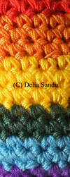 Knitted rainbow by 7DS7