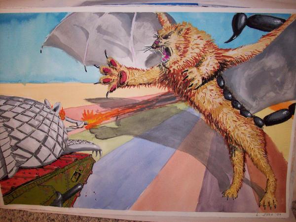 Tarkus vs the Manticore by Bubbalou