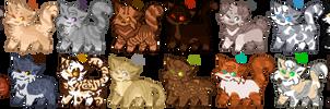Cat Adoptables // Batch 4 // 2/16 OPEN by Murxrow
