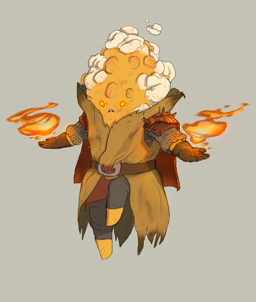 Corn Fire Mage by guillegarcia
