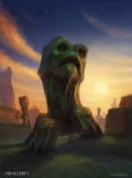 Minecraft fanart - creeper by DevBurmak