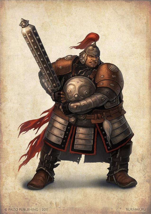Paizo char - Asian warrior by DevBurmak