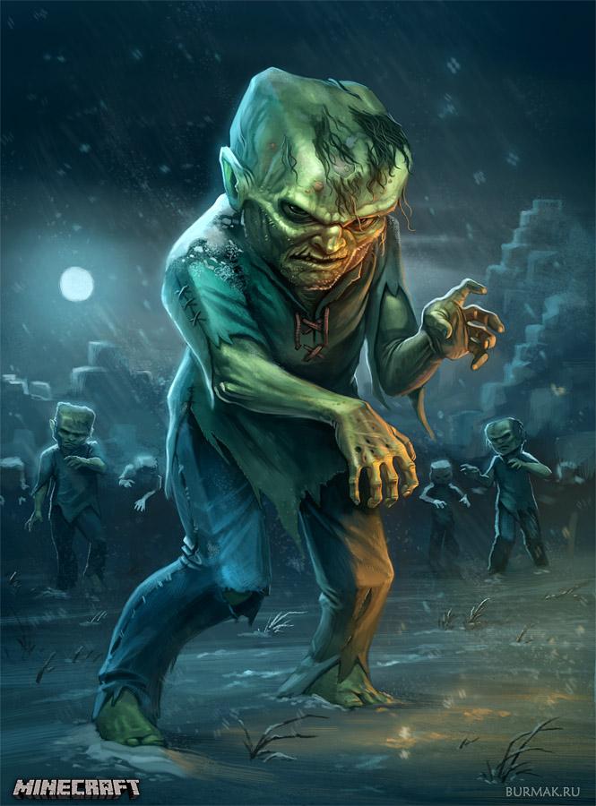 Minecraft fanart - Zombie by DevBurmak