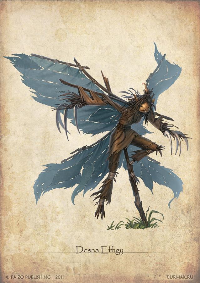 Paizo monster - Desna Effigy by DevBurmak