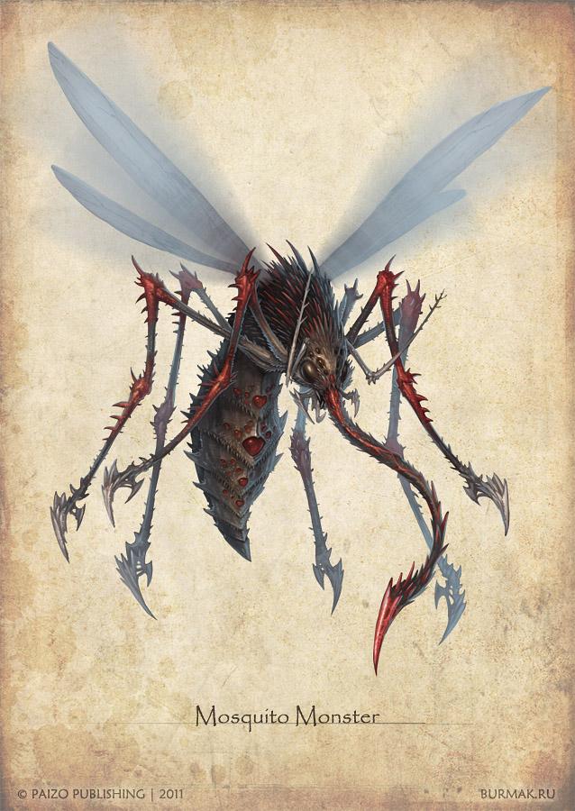 Entrenamiento de Tecnica: Bakuhatsu no In-Yan! Paizo_monster___mosquito_monster_by_devburmak-d4estzm