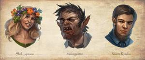 Paizo characters portraits
