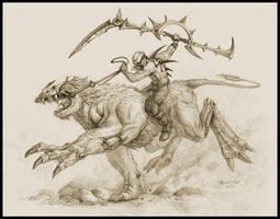 Raider on a beast by DevBurmak