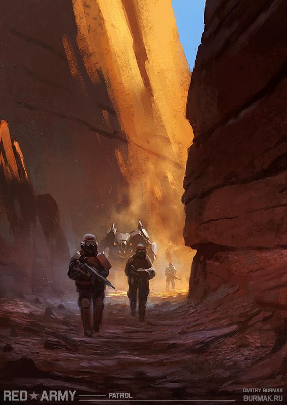 Red Army-patrol by DevBurmak