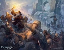 Frostgrave: Zombie assault by DevBurmak