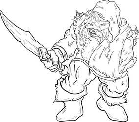 Dwarf ink art by mookidesigns