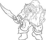 Dwarf ink art