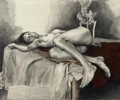 Eliz fingiendo estar dormida by greysmith