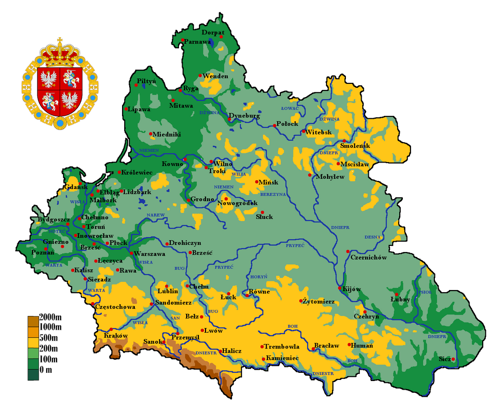 Polish Lithuanian Commonwealth Physical Map By Samogost On DeviantArt - Lithuania physical map