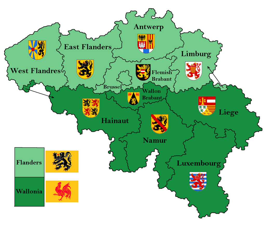 Belgium provinces map by Samogost on DeviantArt – Belgium Provinces Map