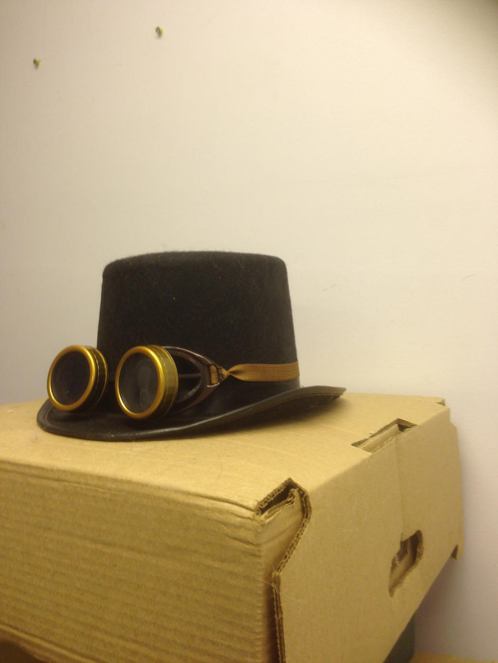 Steampunk-Same hat and goggles 2 by sfishffrog