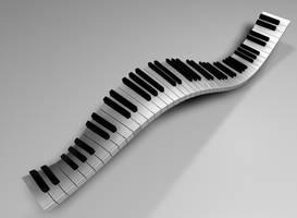 Piano Keyboard by fukm