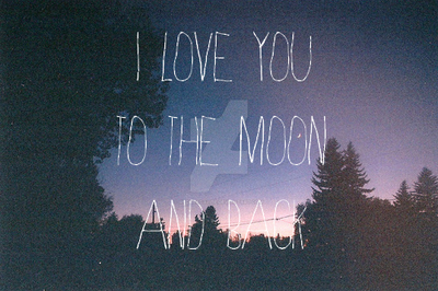 Love you to the moon and back by RedHeadAllie