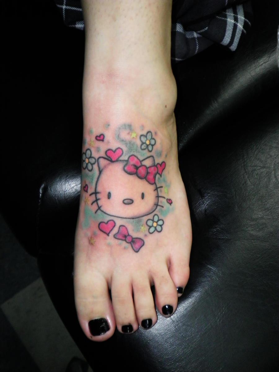 Hello Kitty Bow Tattoo Foot hello kitty foot tatto...
