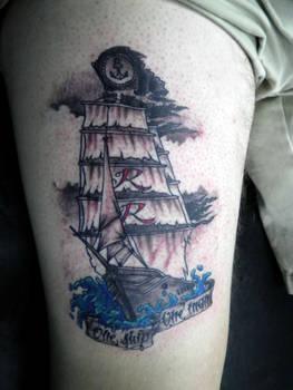pirate ship tattoo...