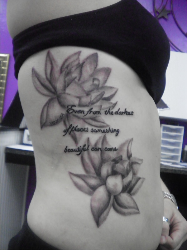 Lily Tattoo with Quote