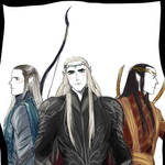 Elvenlords and elveking in armors