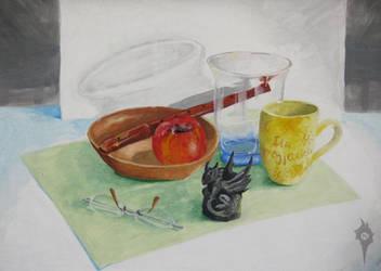 Second studio painting by Natoli