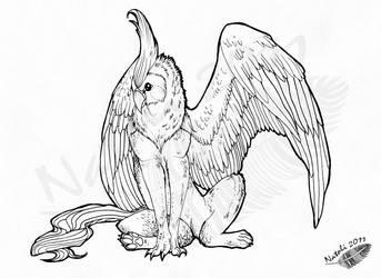 Shena the Gryphon by Natoli