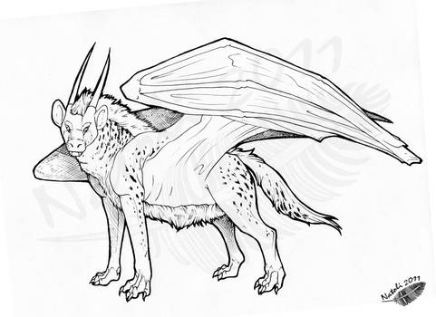 Hyenadragon by Natoli