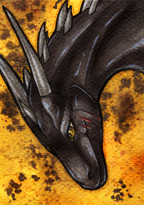 The-Black-Panther ACEO by Natoli