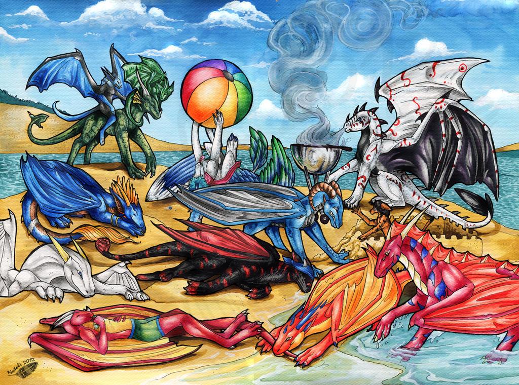 Beach Grilling by Natoli