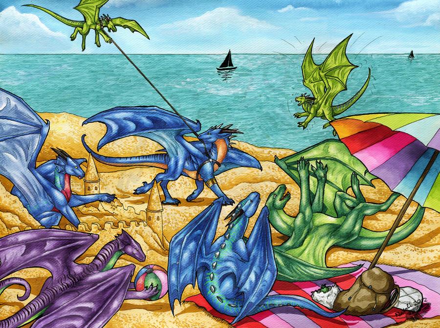 Family on the Beach by Natoli