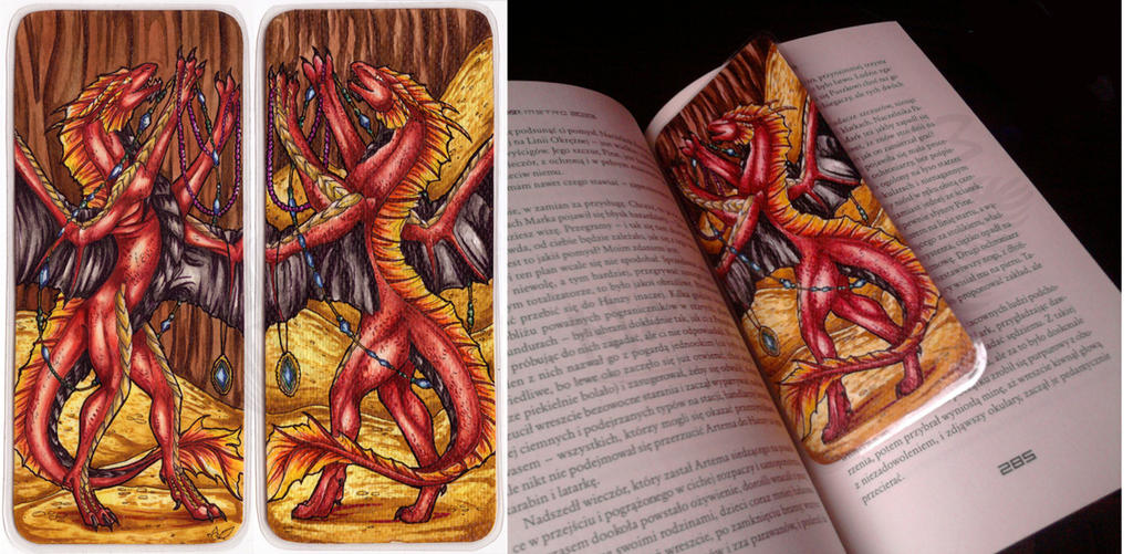 RedFyreDragon Bookmark by Natoli