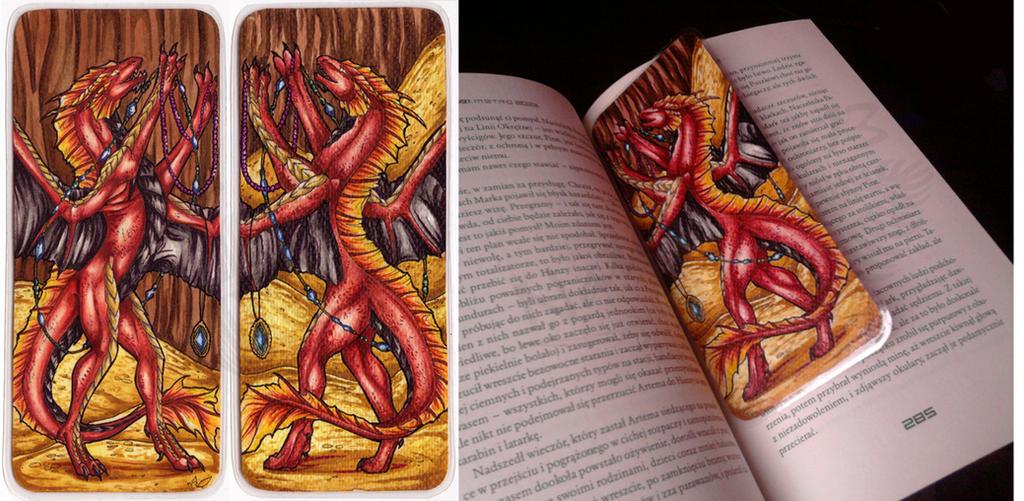 RedFyreDragon Bookmark by Natoli