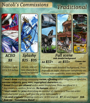 Commissions Price-list - Traditional by Natoli