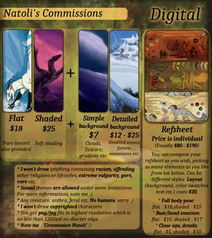 Commissions Price-list - Digital by Natoli