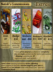 Commissions Price-list - Extras by Natoli