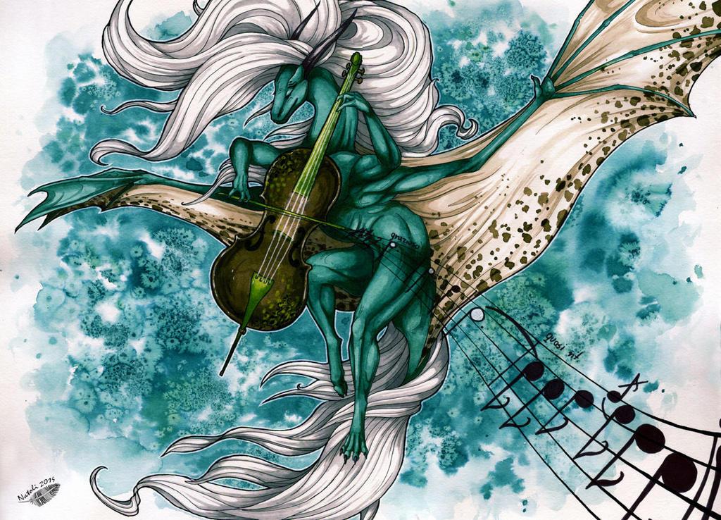 Cello, Dragon and Wind by Natoli
