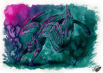 Pink and Teal by Natoli