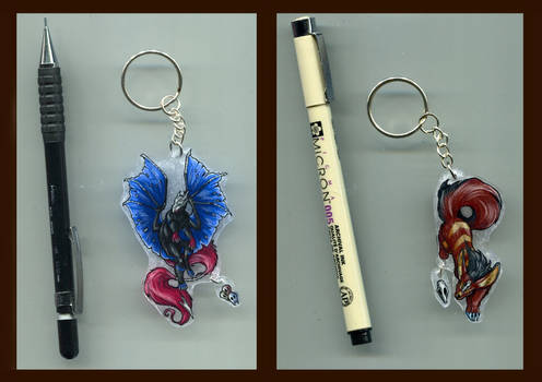 Drache_Lehre and Demillion Keychains