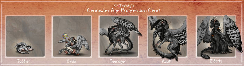 Feathered Mist Age Progression Chart by Natoli