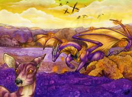 Violet field hunt by Natoli