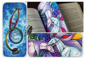 Unicorn Bookmark by Natoli