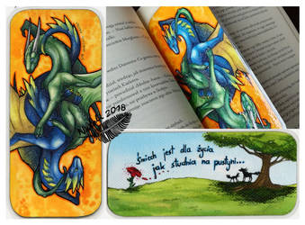 Dragons Bookmark by Natoli