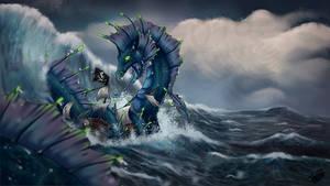 Leviathan Attacks by Natoli