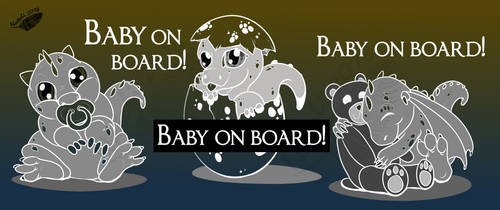 Baby on Board - Car Stickers by Natoli