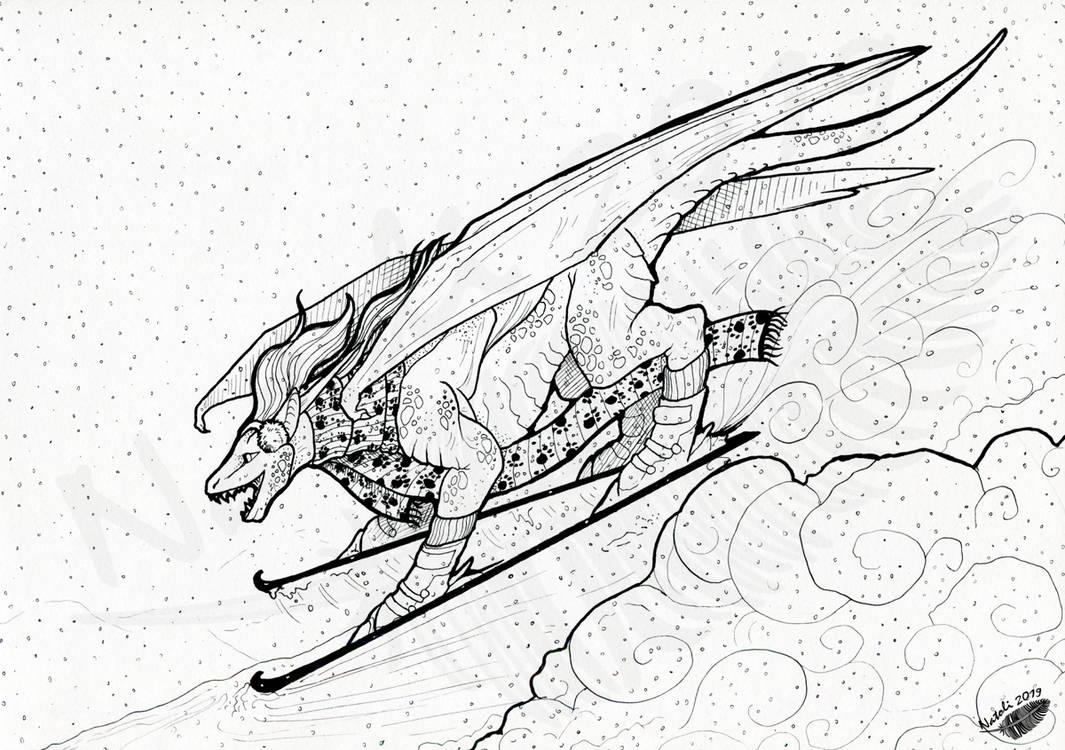 Ski-Dragon by Natoli